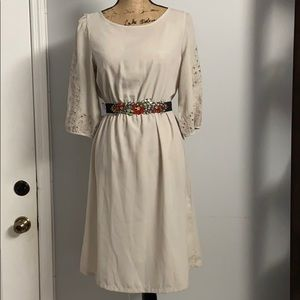 H&M pale gray dress chiffon dress